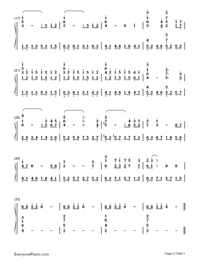 Mother-Kikujiro OST-Numbered-Musical-Notation-Preview-2