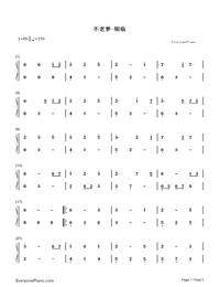Unaging Dream-Yin Lin-Numbered-Musical-Notation-Preview-1