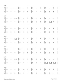 Unaging Dream-Yin Lin-Numbered-Musical-Notation-Preview-2