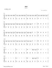 Hello-Hatsune Miku-Numbered-Musical-Notation-Preview-1