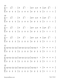 Hello-Hatsune Miku-Numbered-Musical-Notation-Preview-2