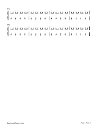 Hello-Hatsune Miku-Numbered-Musical-Notation-Preview-4