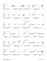Remember-The Rain-Numbered-Musical-Notation-Preview-2