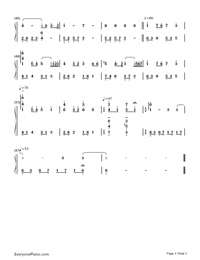Remember-The Rain-Numbered-Musical-Notation-Preview-3