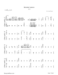 Autumn Leaves-Joseph Kosma-Numbered-Musical-Notation-Preview-1