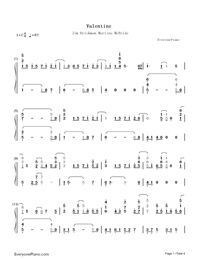 Valentine Jim Brickman And Martina McBride  Numbered Musical Notation Preview