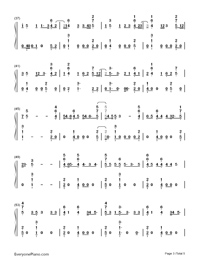 Bibia Be Ye Ye-Ed Sheeran-Numbered-Musical-Notation-Preview-3