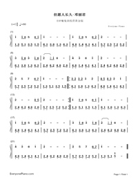 May They Live Long-Teresa Teng-Numbered-Musical-Notation-Preview-1