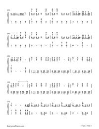Ren'ai Circulation-Bakemonogatari OP-Numbered-Musical-Notation-Preview-2