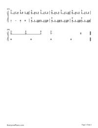 Ren'ai Circulation-Bakemonogatari OP-Numbered-Musical-Notation-Preview-3