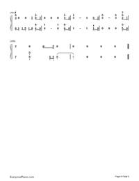 No Promises-Cheat CodesとDemi Lovato両手略譜プレビュー6