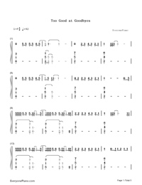 Too Good at Goodbyes-Sam Smith-Numbered-Musical-Notation-Preview-1