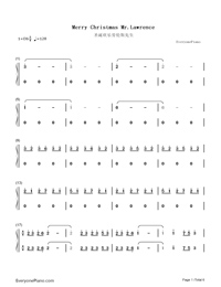 Merry Christmas Mr Lawrence-Ryuichi Sakamoto-Numbered-Musical-Notation-Preview-1