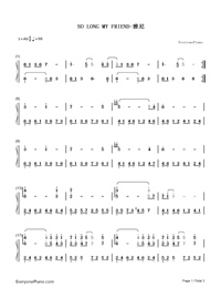 So Long My Friend-Yanni-Numbered-Musical-Notation-Preview-1