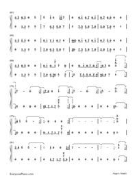 Younger Now-Miley Cyrus-Numbered-Musical-Notation-Preview-4
