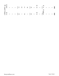 Alpha-Minecraft BGM-Numbered-Musical-Notation-Preview-4