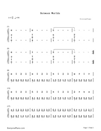 Between Worlds-Roger Subirana-Numbered-Musical-Notation-Preview-1