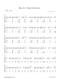 What Do I Know-Ed Sheeran-Numbered-Musical-Notation-Preview-1