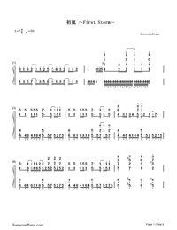First Storm-Hatsune Miku-Numbered-Musical-Notation-Preview-1