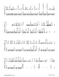 First Storm-Hatsune Miku-Numbered-Musical-Notation-Preview-4