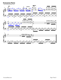 Deemo Title Song-Deemo背景音樂五線譜預覽5