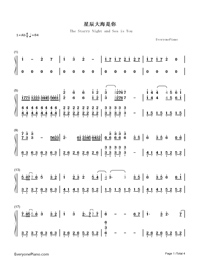 You Are the Stars of the Sea-Wei Chen-Numbered-Musical-Notation-Preview-1