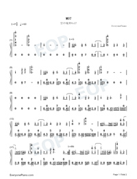 M07-The Garden of Sinners BGM-Numbered-Musical-Notation-Preview-1