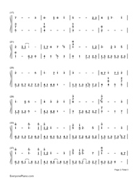 Carrying you-Castle in the Sky-Children Version-Numbered-Musical-Notation-Preview-2