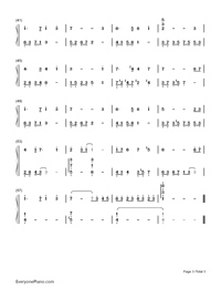 Carrying you-Castle in the Sky-Children Version-Numbered-Musical-Notation-Preview-3