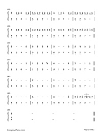 Canon in C Major-Johann Pachelbel Numbered Musical Notation Preview 2