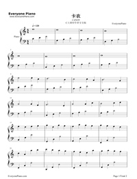 canon in c major pdf piano
