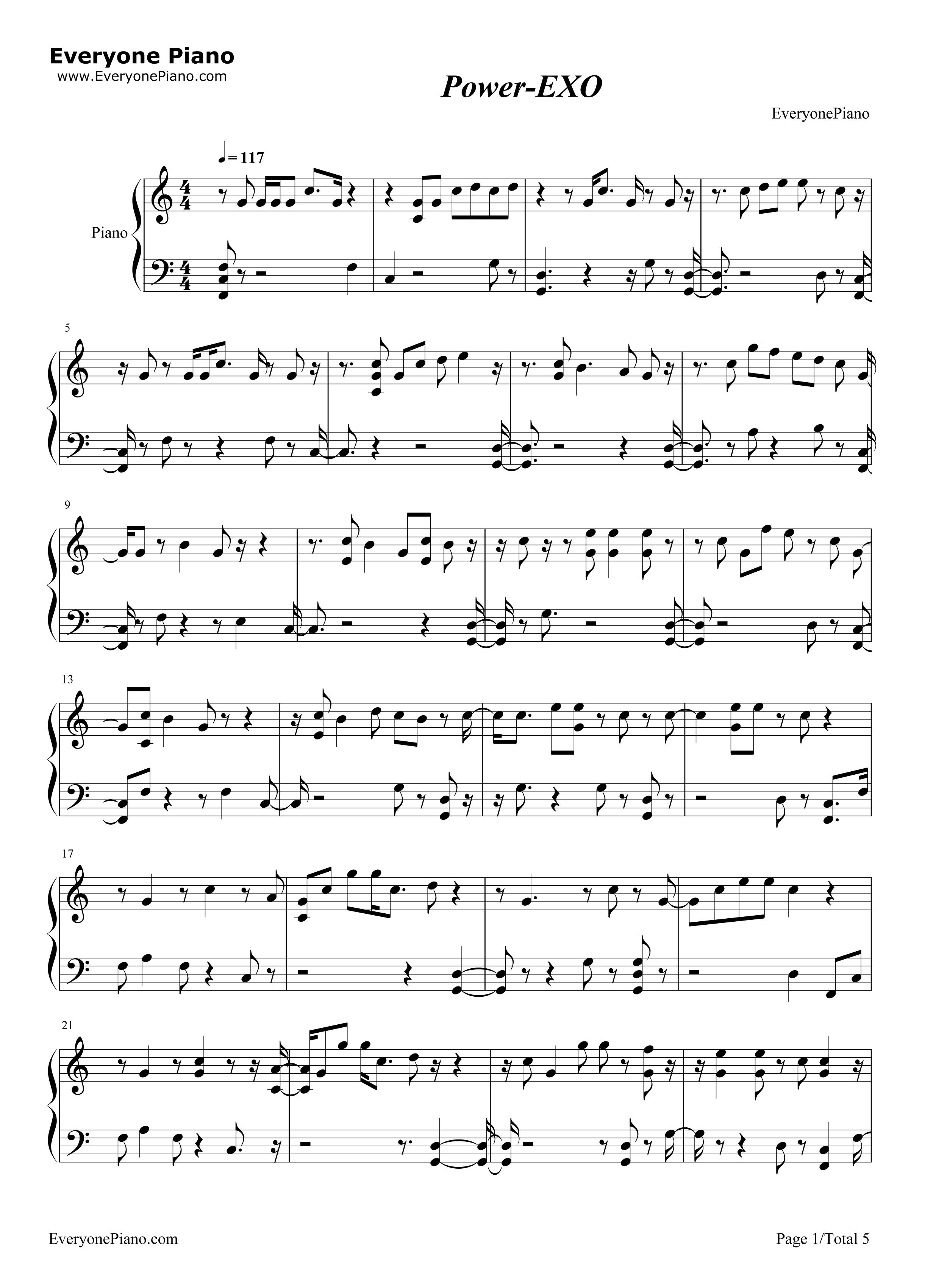 Power exo stave preview 1 free piano sheet music piano chords listen now print sheet power exo stave preview 1 hexwebz Gallery
