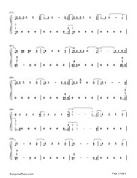 Too Good at Goodbyes-Sam Smith Numbered Musical Notation Preview 2