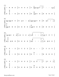 Too Good at Goodbyes-Sam Smith Numbered Musical Notation Preview 5