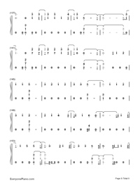 Too Good at Goodbyes-Sam Smith Numbered Musical Notation Preview 8