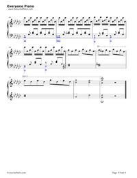 恋をしたのは-聲の形主题曲五線譜プレビュー4