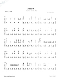 Castle in the Sky-Wild Version-Numbered-Musical-Notation-Preview-1