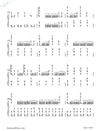 Castle in the Sky-Wild Version-Numbered-Musical-Notation-Preview-2