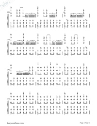 Castle in the Sky-Wild Version-Numbered-Musical-Notation-Preview-3