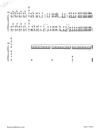 Castle in the Sky-Wild Version-Numbered-Musical-Notation-Preview-5