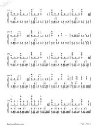 だから僕は僕を手放す-サクラダリセットOP2両手略譜プレビュー2