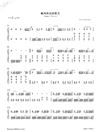 Summer Breeze-Piano Version-Numbered-Musical-Notation-Preview-1