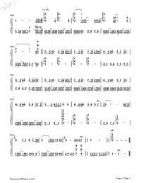 Summer Breeze-Piano Version-Numbered-Musical-Notation-Preview-3
