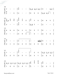 Watashi no Uso-Your Lie in April OST-Numbered-Musical-Notation-Preview-2