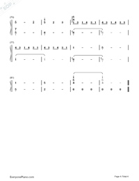 Watashi no Uso-Your Lie in April OST-Numbered-Musical-Notation-Preview-4