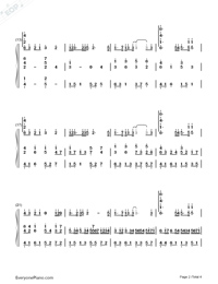 Castle in the Sky and Carrying you and Canon-Numbered-Musical-Notation-Preview-2
