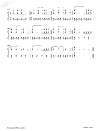 TRISTE COEUR-Triste Coeur Numbered Musical Notation Preview 4