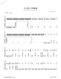 From Heaven Fallen An Angle Sister Lin-Qian Huili-Numbered-Musical-Notation-Preview-1