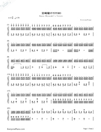 TOTORO-Numbered-Musical-Notation-Preview-1