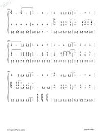 宮崎駿の空と川両手略譜プレビュー6